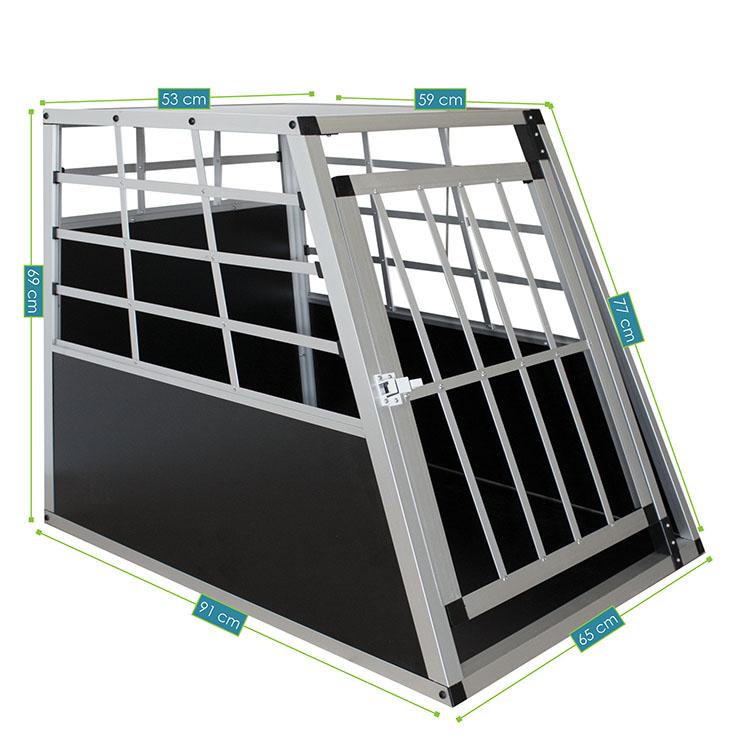 Alu Hundetransportbox L – Abmessungen von der Hundebox