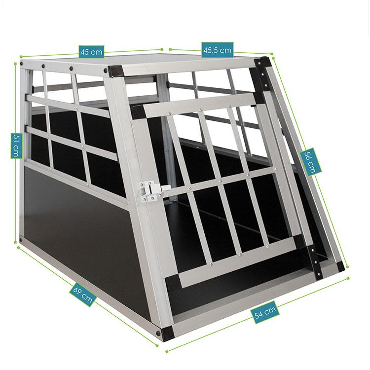 Alu Hundetransportbox M – Abmessungen von der Hundebox