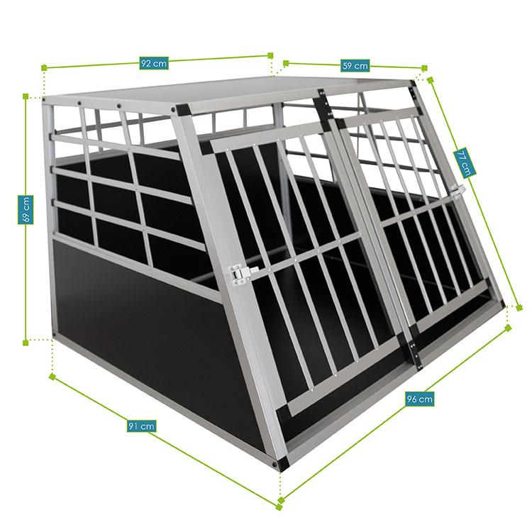 Alu Hundetransportbox XL – Abmessungen von der Hundebox