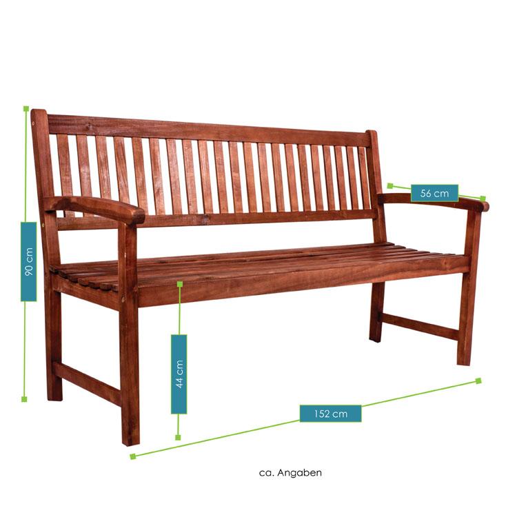 akazienholz 3 sitzer gartenbank bima juskys. Black Bedroom Furniture Sets. Home Design Ideas