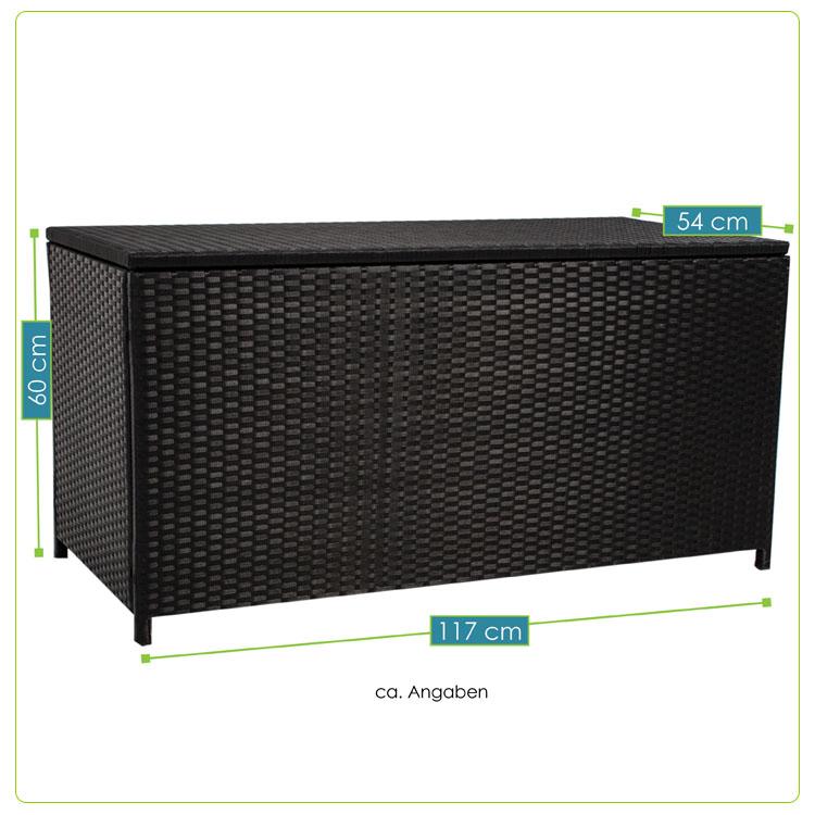 polyrattan auflagenbox kissenbox gartenbox gartentruhe aufbewahrungsbox. Black Bedroom Furniture Sets. Home Design Ideas