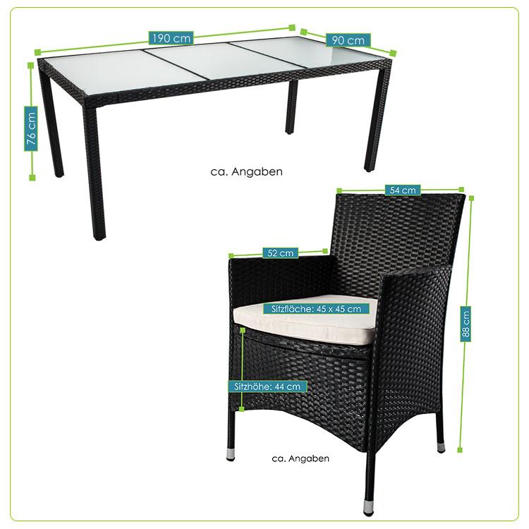 polyrattan essgruppe gartenm bel rattan esstischgruppe gartenset sitzgruppe neu ebay. Black Bedroom Furniture Sets. Home Design Ideas