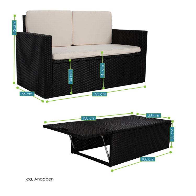 polyrattan gartenm bel sitzgruppe relax comfort f r 2 personen. Black Bedroom Furniture Sets. Home Design Ideas