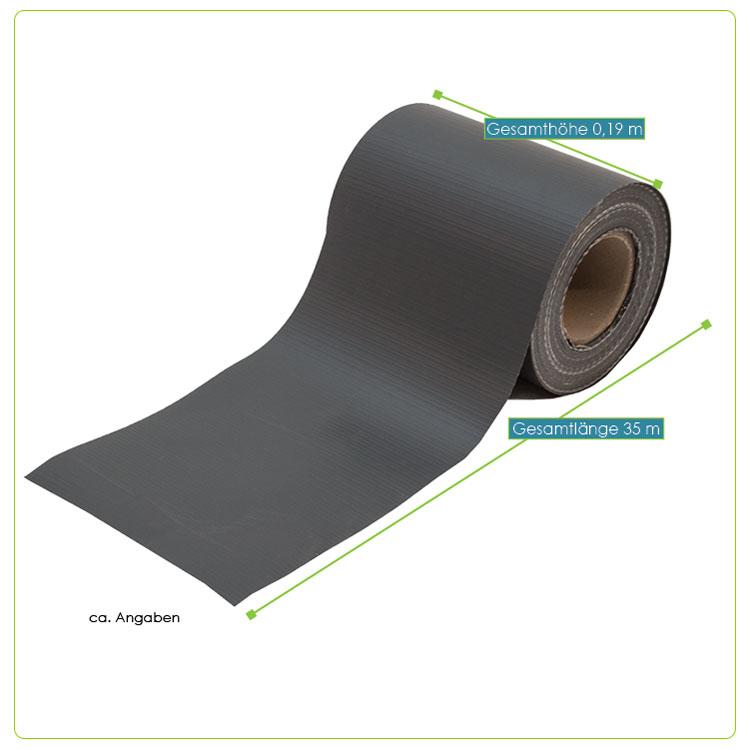 35m pvc zaunfolie sichtschutz doppelstabmatten streifen folie grau gr n ebay. Black Bedroom Furniture Sets. Home Design Ideas