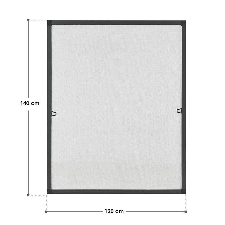 Abmessungen Fliegengitter 120 x 140 cm für Fenster Anthrazit