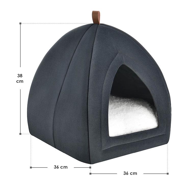 Abmessungen Katzenhöhle Gismo 36x36x38 cm dunkelgrau