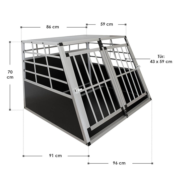 Abmessungen Aluminium Hundetransportbox XL für große Hunde