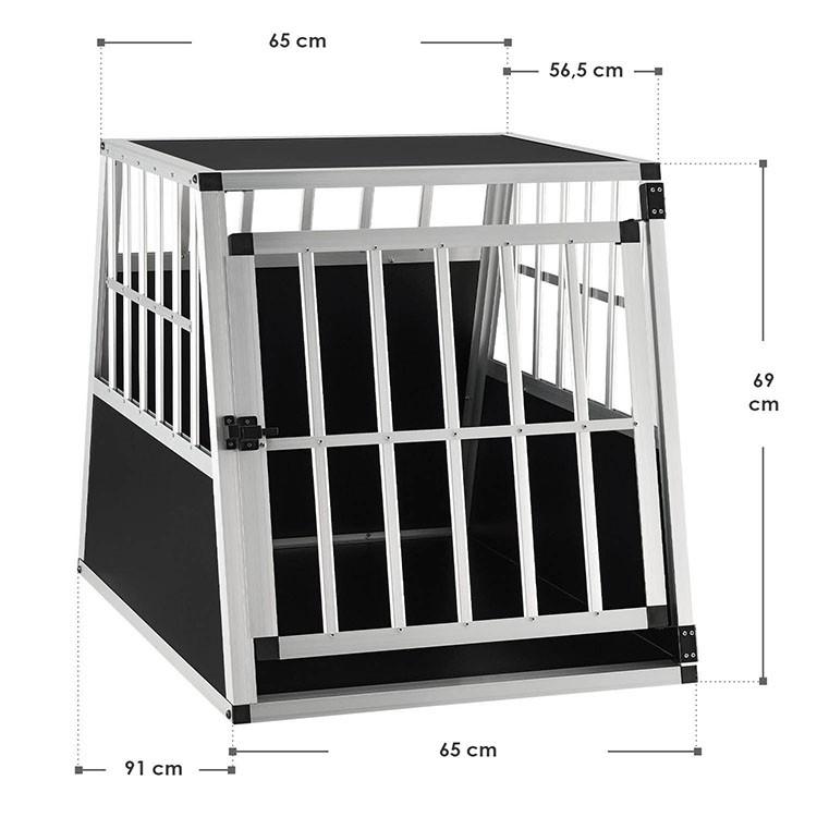 Abmessungen Aluminium Hundetransportbox L-X für mittelgroße Hunde