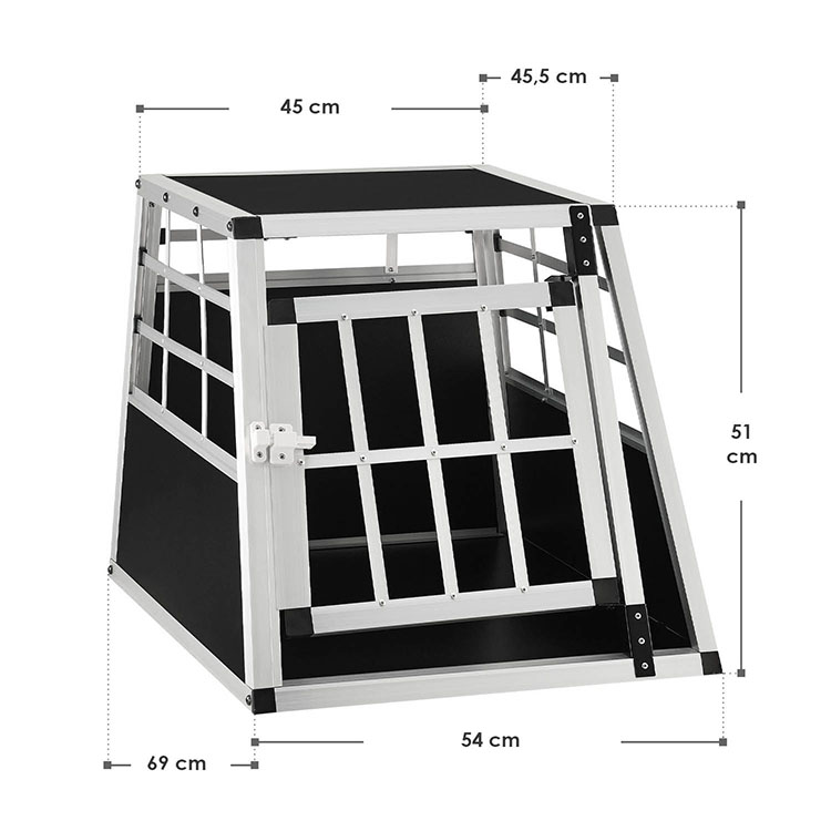 Abmessungen Aluminium Hundetransportbox M für kleine Hunde