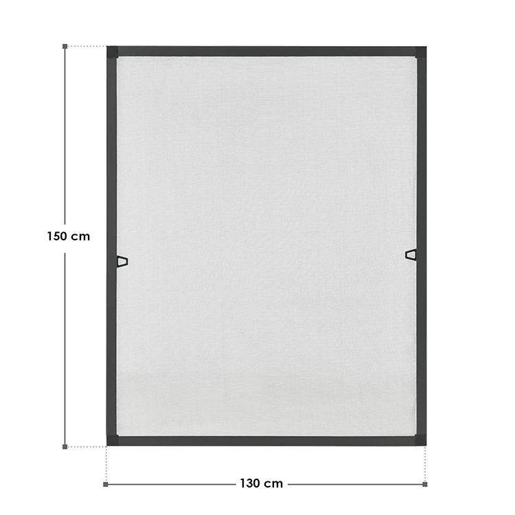 Abmessungen Fliegengitter 130 x 150 cm für Fenster Anthrazit