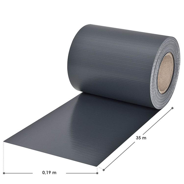 Abmessungen des PVC-Sichtschutzstreifens – anthrazit – mit 30 Befestigungsklemmen