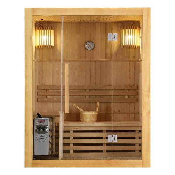 Traditionelle Saunakabine / Finnische Sauna Tampere 150 x 110 cm 4,5 kW