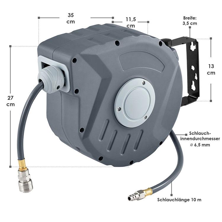 Abmessungsbild Automatischer Druckluft-Schlauchaufroller Pressure 10m