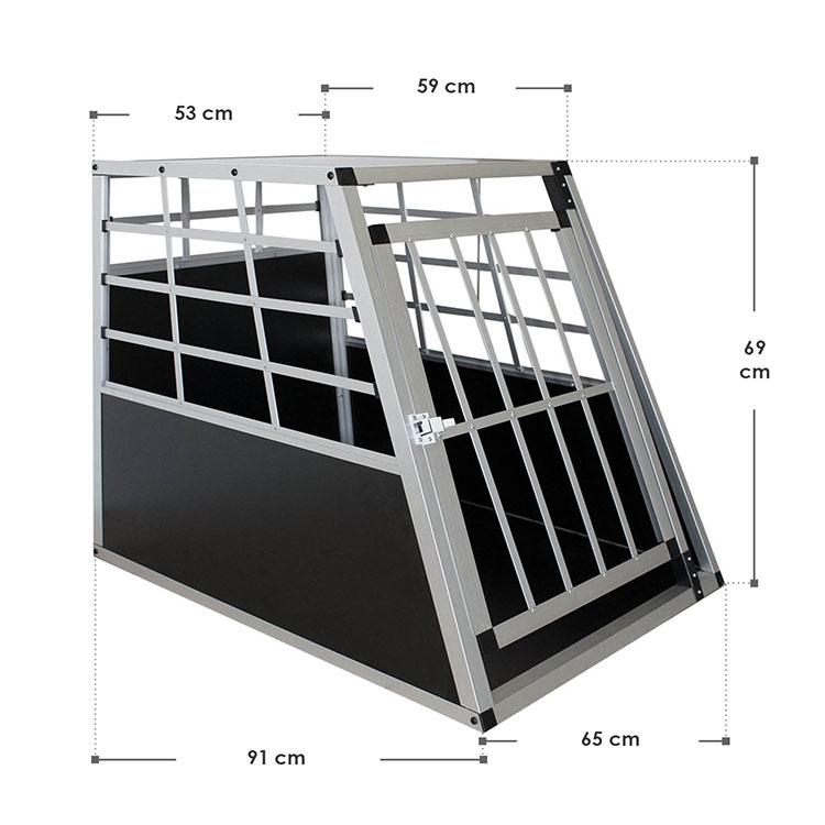 Abmessungen Aluminium Hundetransportbox L für mittlere Hunde