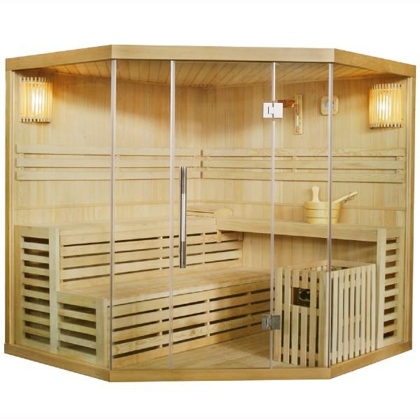 Traditionelle Saunakabine / Finnische Sauna Espoo 200 x 200 cm 8 kW