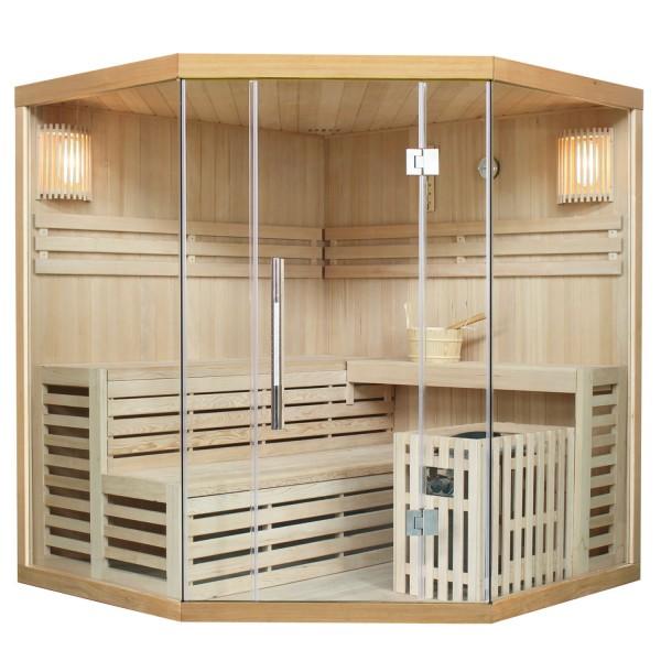 Traditionelle Saunakabine / Finnische Sauna Espoo 180 x 180 cm 8 kW